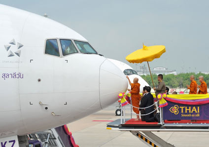 THAI Holds Aircraft Anointing Ceremony for Airbus A350 XWB and Boeing 777-300ER