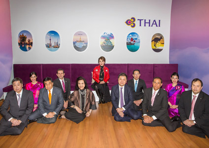 THAI Welcomes HRH Princess Ubolratana Rajakanya at ITB 2018