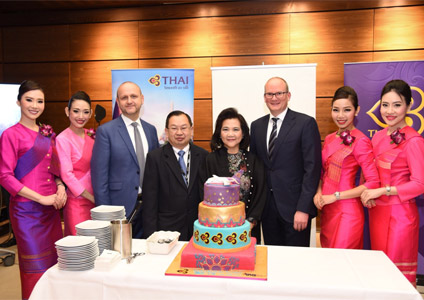 Vienna International Airport Welcomes THAI's Inaugural Flight to Vienna