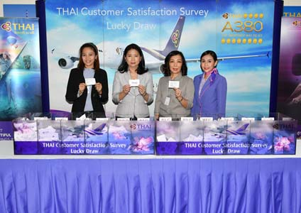 THAI Holds Lucky Draw for THAI Customer Satisfaction Survey : TCSS