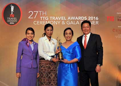 THAI Inducted into TTG Travel Hall of Fame for Best South East Asian Airline