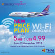 THAI in-flight Wi-Fi internet service