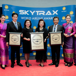 THAI Wins Three First Place Skytrax Awards 2017