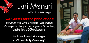 co-promotion with Jari Menari SPA – Bali's Best Massage