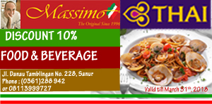 co-promotion with Massimo Restaurant