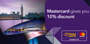 Mastercard gives you 10% discount