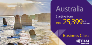 Business class to Australia