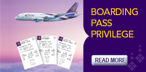 THAI's Boarding Pass Privilege