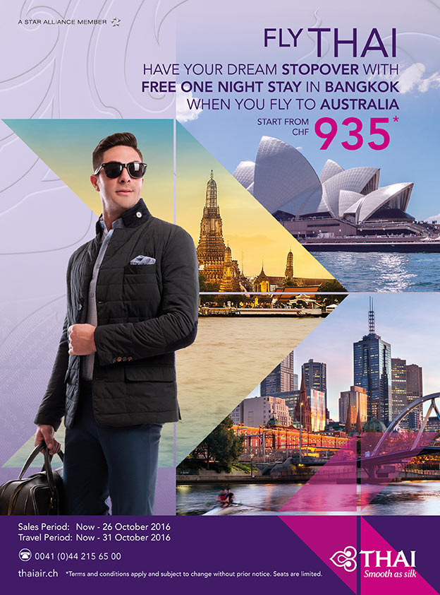 have your dream stopover with free one night stay in bangkok when you fly to australia