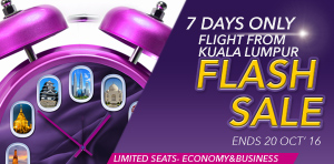 Flash Sale Offers from Kuala Lumpur