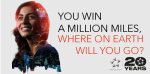 Your chance to win a million miles*