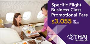 Specific Flight Business Class Promotional Fare