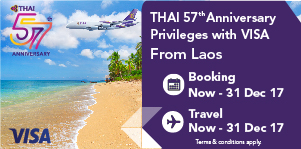 Special Privileges with VISA Credit Card from Laos