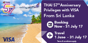 Special Privileges with VISA Credit Card from Sri Lanka