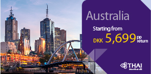 SUPER DEAL - Copenhagen to Australia