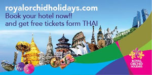 Book your hotel now!! and get free tickets from THAI