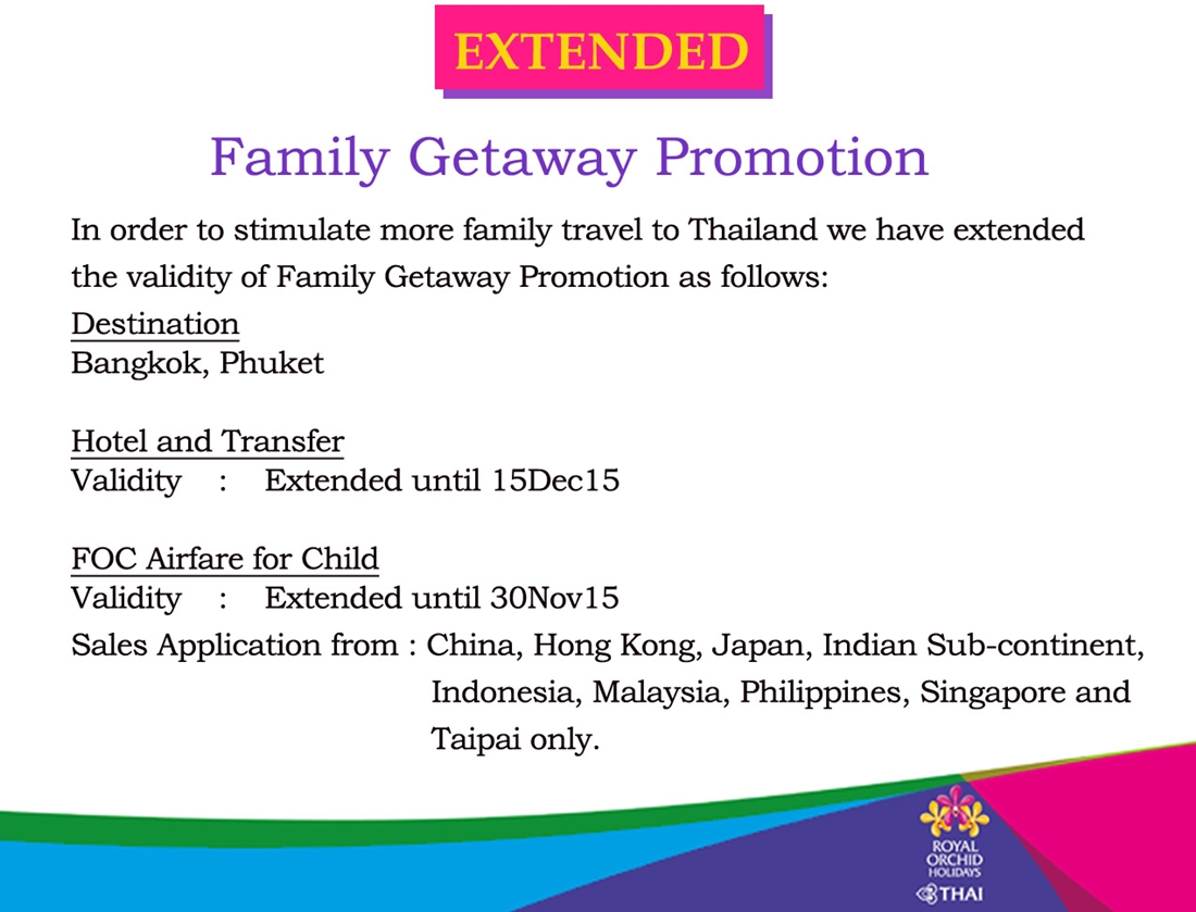 Extended Family Getaway Promotion