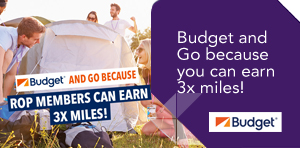 Budget and Go because you can earn 3x miles!