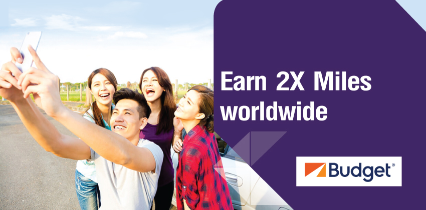 Earn Double Royal Orchid Plus miles when you drive with Budget!