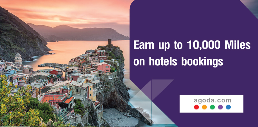Earn up to 10,000 Royal Orchid Plus Miles on your hotel bookings with Agoda PointsMAX