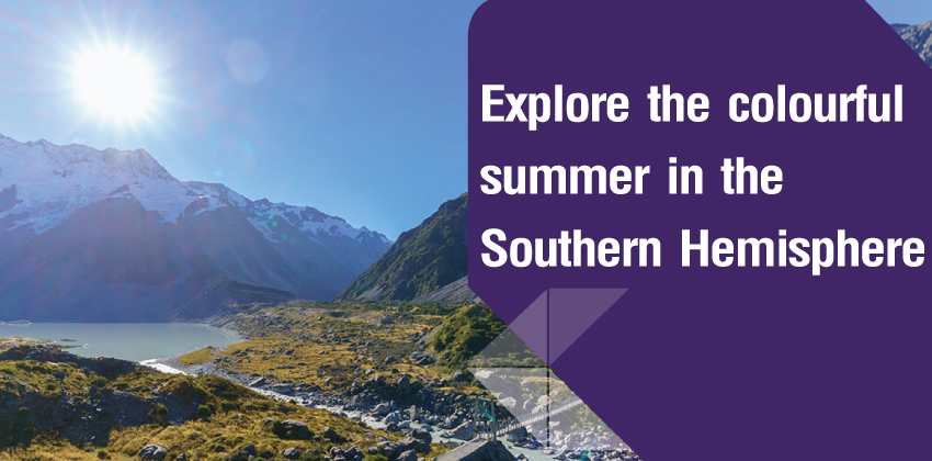 Explore the colourful summer in the Southern Hemisphere