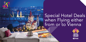 Special Hotel Deals when Flying either from or to Vienna