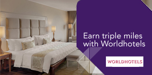Earn triple miles with Worldhotels