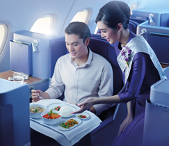 THAI upgrades its Royal Orchid Inflight Service for Business Class