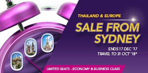 Sydney Flight Sale : Ends 17 Dec '17, travel 16 Jan to 31 Oct '18!