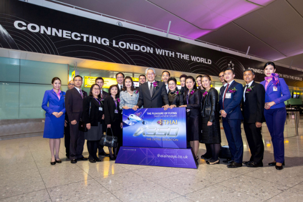 THAI hosts launch party for A350 on London to Bangkok route