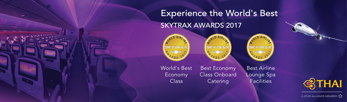 Thai Airways Wins Skytrax Awards