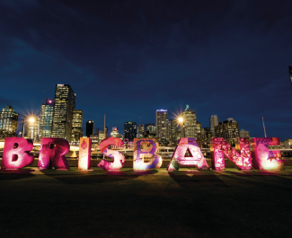 Brisbane Sign Southbank Night