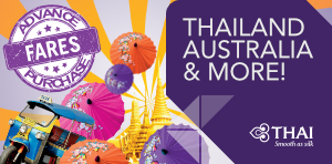 Advance purchase offers with Thai Airways