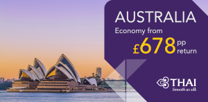 Australia economy flight deals from London