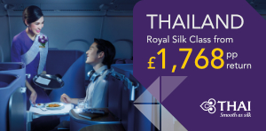 Thailand flight deals with Thai Airways