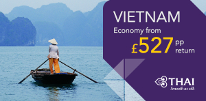 Vietnam flight deals with Thai Airways