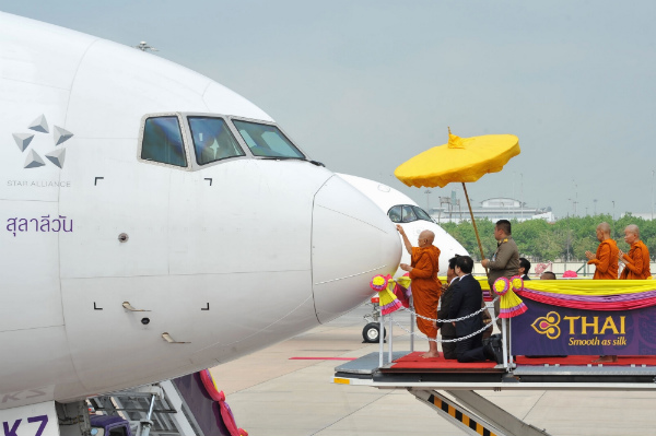THAI Holds Aircraft Anointing Ceremony for Airbus A350 and Boeing 777-300ER