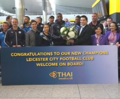 Thai Airways Celebrates Premiership Title With Leicester City F.C.