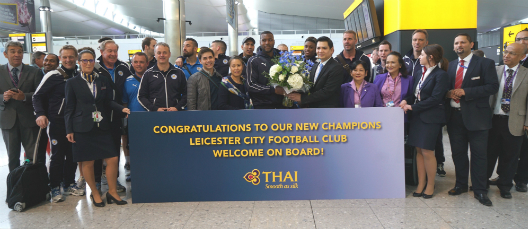 THAI Celebrates the Premiership Title with Leicester City F.C.