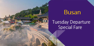 Busan, Tuesday Departure, Special Fare