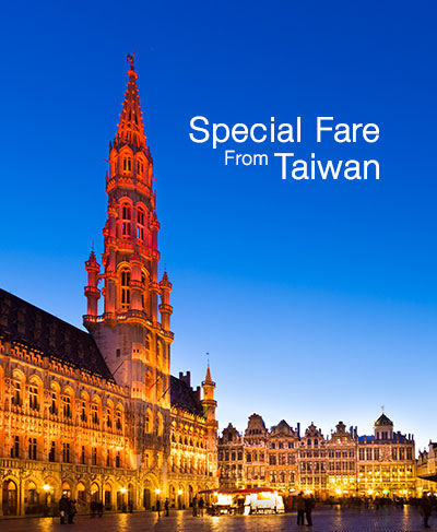 SPECIAL FARE FROM TAIWAN,Sales period: Now - 31 March 2018
