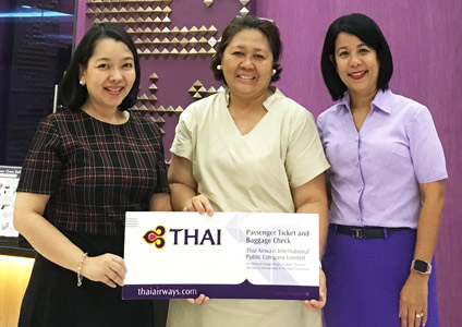 THAI Presents Tickets to e-THAI Customer Satisfaction Survey (e-TCSS) Lucky Winner